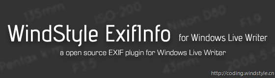 WindStyle ExifInfo for Windows Live Writer